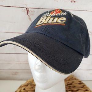 Labatt blue logo advertisin ball cap baseball hat